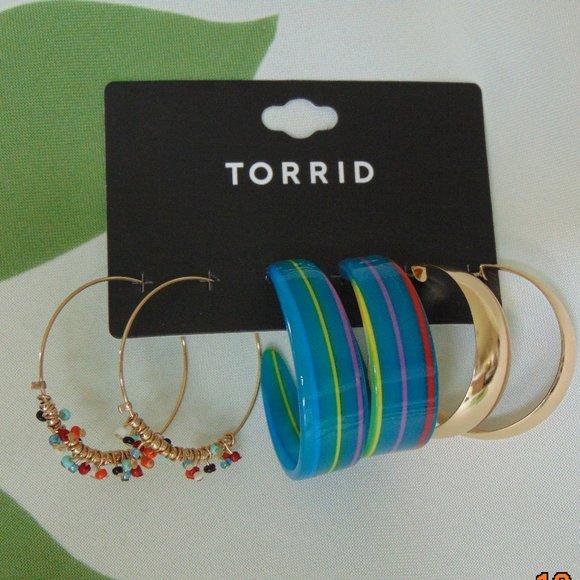 3PK Hoop Multi Resin Beads MTL